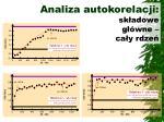 analiza autokorelacji sk adowe g wne ca y rdze