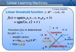 linear learning machines1