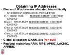 obtaining ip addresses