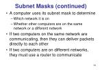 subnet masks continued