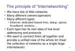 the principle of internetworking