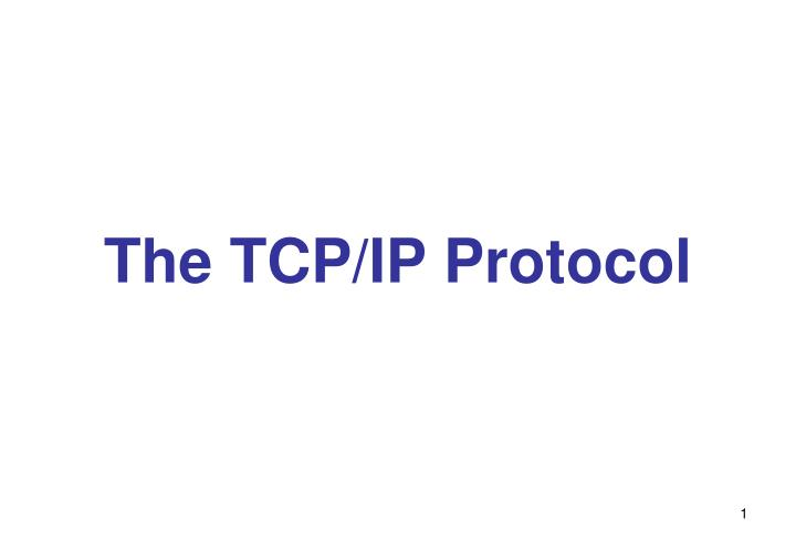 the tcp ip protocol n.