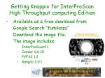 getting knoppix for interproscan high throughput computing edition