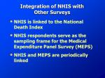 integration of nhis with other surveys