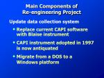 main components of re engineering project