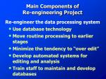 main components of re engineering project1