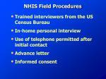 nhis field procedures