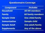 questionnaire coverage