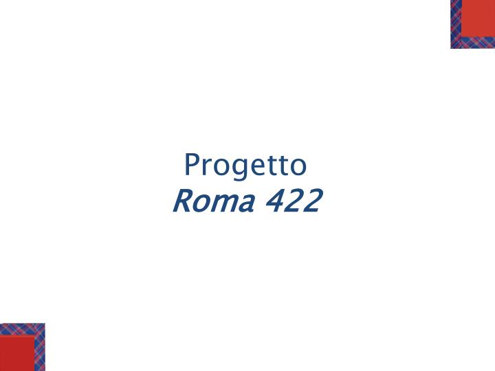 p rogetto roma 422 n.