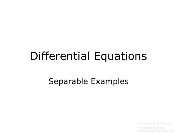 differential equations n.
