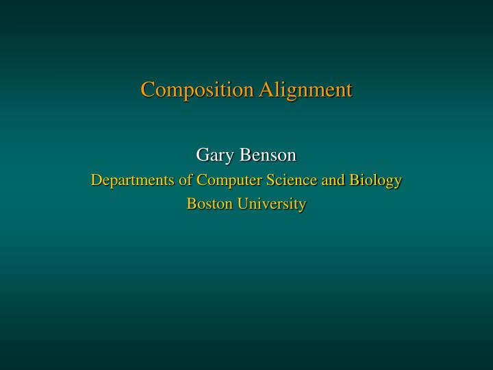 composition alignment n.