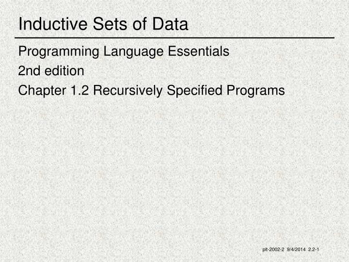 inductive sets of data n.