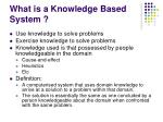 what is a knowledge based system