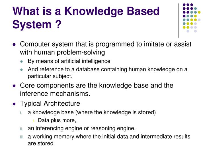 What is a Knowledge Based System ?
