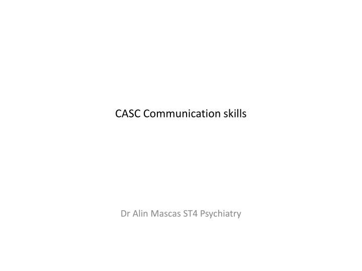 casc communication skills n.