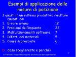 esempi di applicazione delle misure di posizione