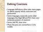 defining coercions