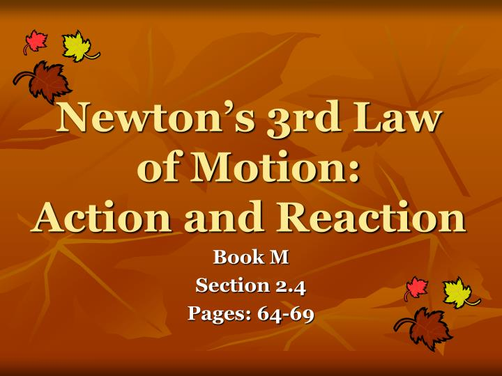 newton s 3rd law of motion action and reaction n.