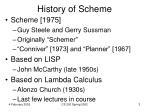 history of scheme