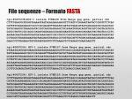 file sequenze formato fasta