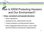 how is idem protecting hoosiers and our environment