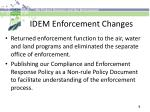 idem enforcement changes