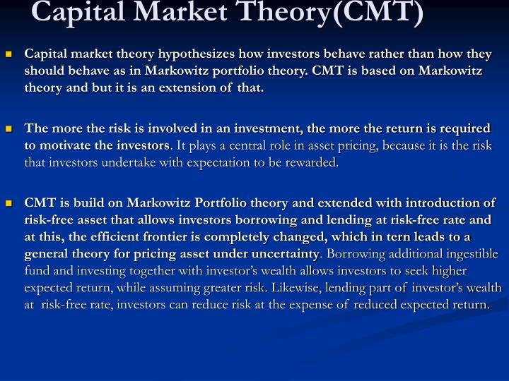 Capital Market Theory(CMT)