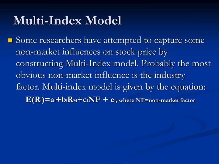 Multi-Index Model