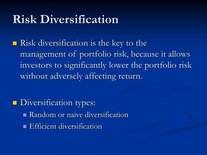 Risk Diversification
