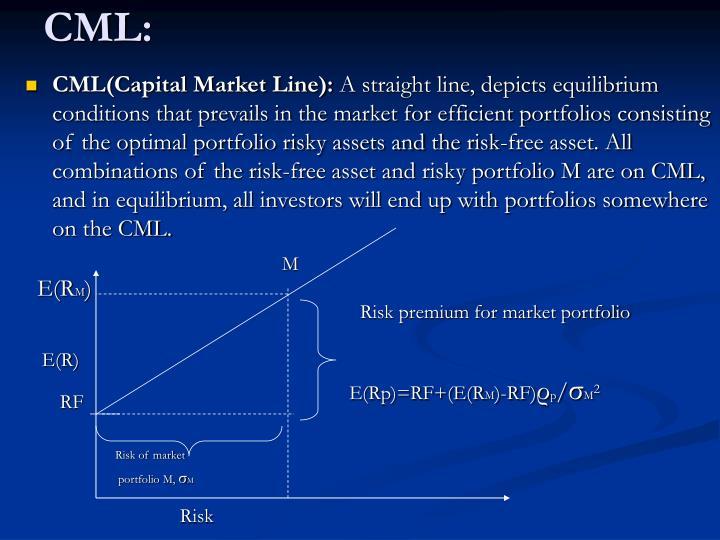 CML(Capital Market Line):