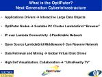 what is the optiputer next generation cyberinfrastructure