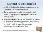 essential benefits defined