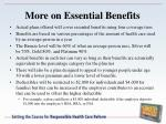 more on essential benefits