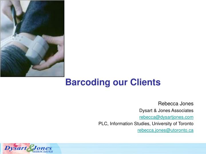barcoding our clients n.