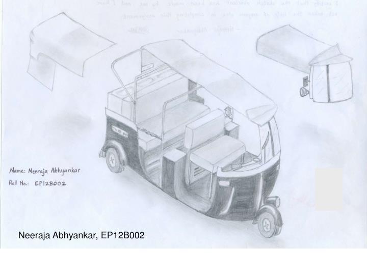 Neeraja Abhyankar, EP12B002