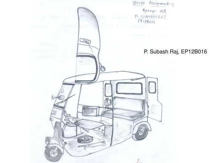 P. Subash Raj, EP12B016