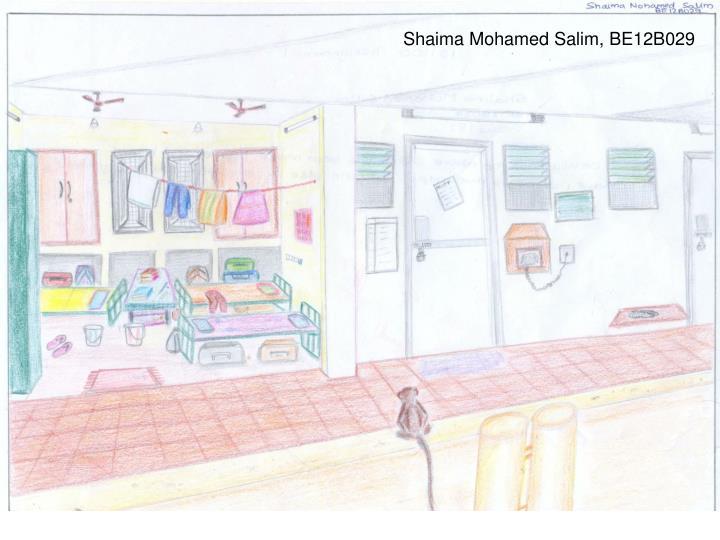 Shaima Mohamed Salim, BE12B029
