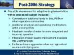 post 2006 strategy1