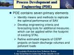 process development and engineering pde