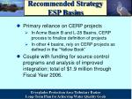 recommended strategy esp basins
