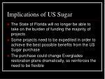 implications of us sugar