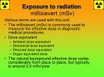 exposure to radiation millisievert msv