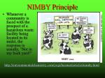 nimby principle