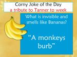 corny joke of the day a tribute to tanner to week