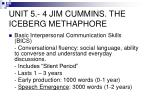 unit 5 4 jim cummins the iceberg methaphore1