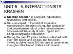 unit 5 6 interactionists krashen1