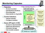 monitoring capsules