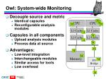 owl system wide monitoring