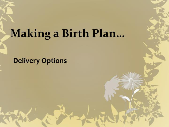 Making a birth plan