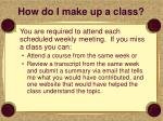 how do i make up a class